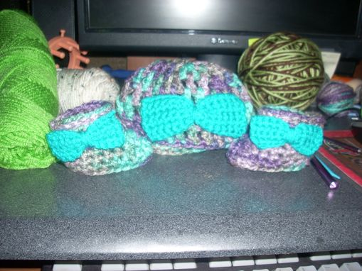 Custom Made Baby Shower Hat And Booties