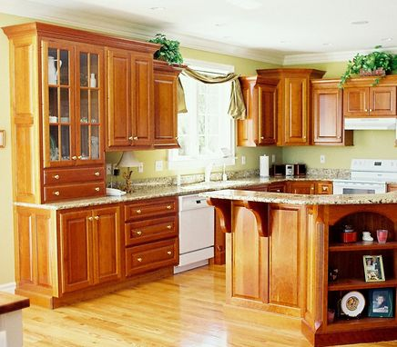 Custom Made Custom Kitchen Cabinets In Cherry Maple Granite Stainless Steel Glass & Quartz