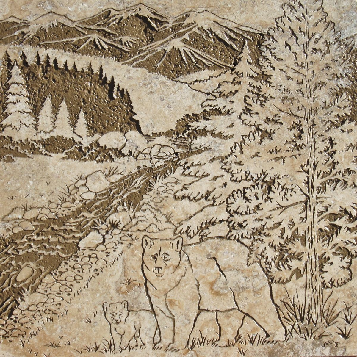 Log cabin bathroom decor - Hand Made Colorado Cabin Shower Niche By Tile Goddess Custommade Com