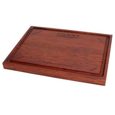 Custom Made Bubinga Edge Grain Cutting Board - Custom Engraving Available