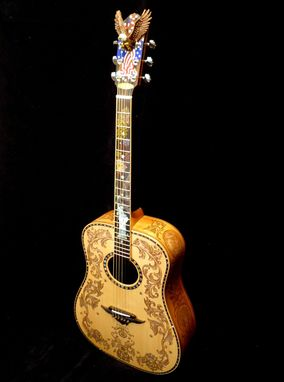 "Custom Made Blueberry Custom ""Patriot"" Dreadnought Acoustic Guitar"