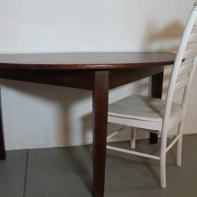 Custom Made Small Half Circle Dining Table by ECustomFinishes