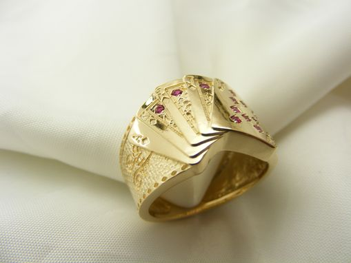 Custom Made Royal Flush Ring