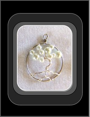 Custom Made White Pearl, Tree Of Life Necklace, Tree Of Life Jewelry, Healing Jewelry, Birthstone Jewelry