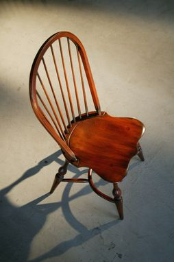 Custom Made English Windsor Chair In Brown Cherry Finish