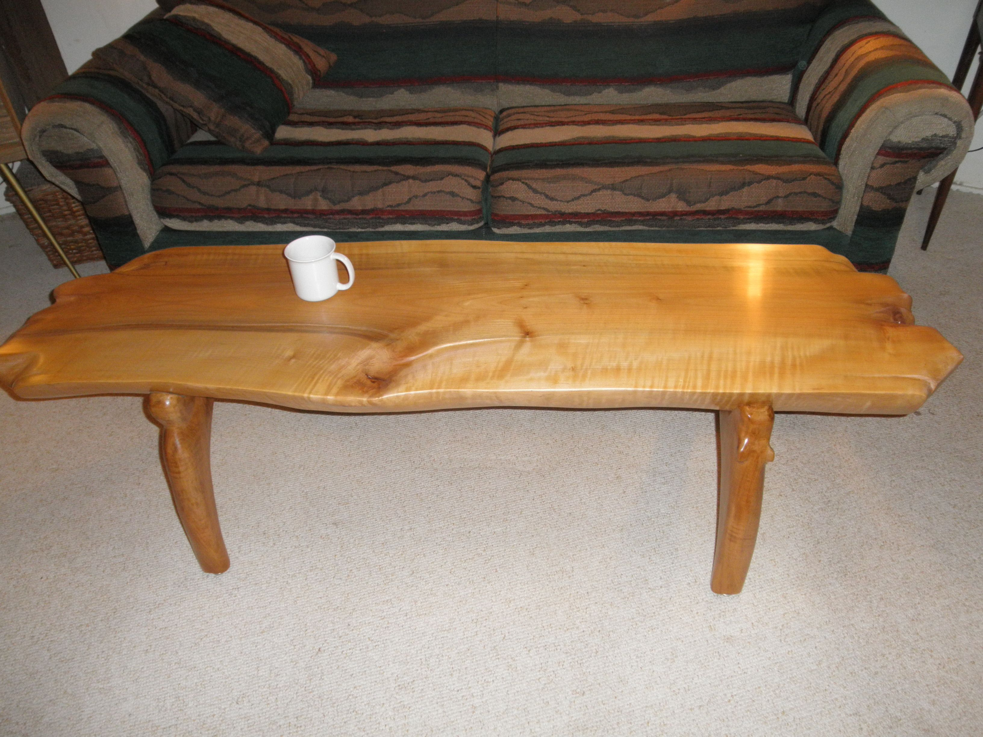 "Buy a Hand Made Hard Rock Maple Coffee Table 68"" X 18"" X 18"" made"