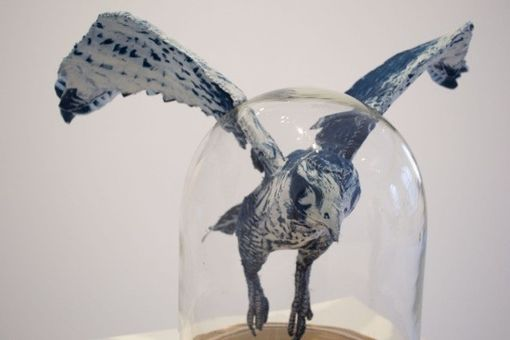 Custom Made The Falcon: Magnetic Cyanotype Sculpture