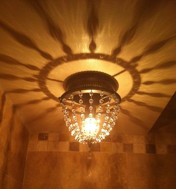 Custom Made Crystal Beaded Ceiling Light