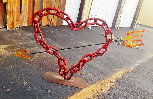 Custom Made Large Welded Heart Sculpture