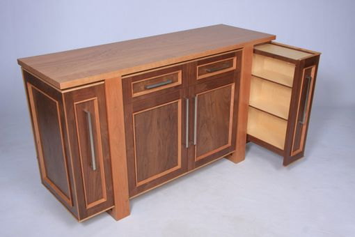 Custom Made Modern Entertainment Center Or Credenza