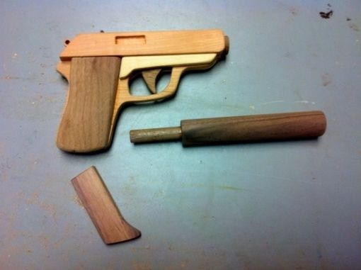 Custom Made Wooden Walther Ppk