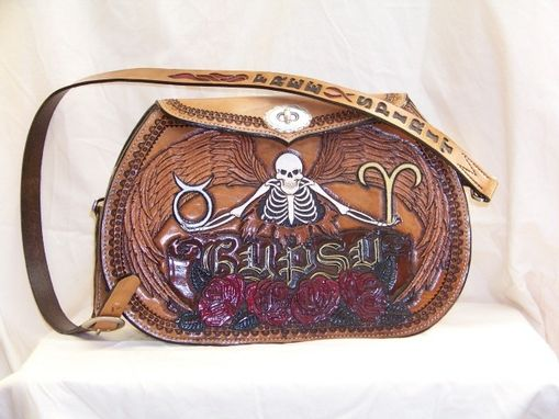 Custom Made Motorcycle Motif Ladies Hand Bag
