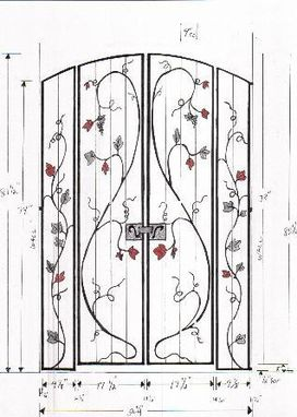 Custom Made Wrought Iron Gates