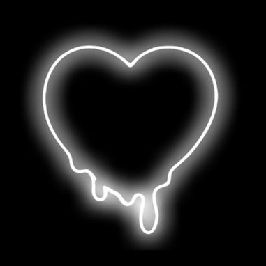 Custom Made Melted Heart Neon Sign