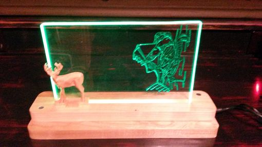 Custom Made Bowhunter Acrylic Night Light