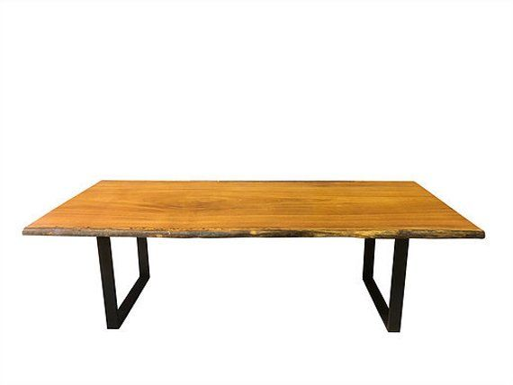 Buy A Hand Crafted Live Edge Dining Table Angelim Pedra Foot - 8 foot dining room table