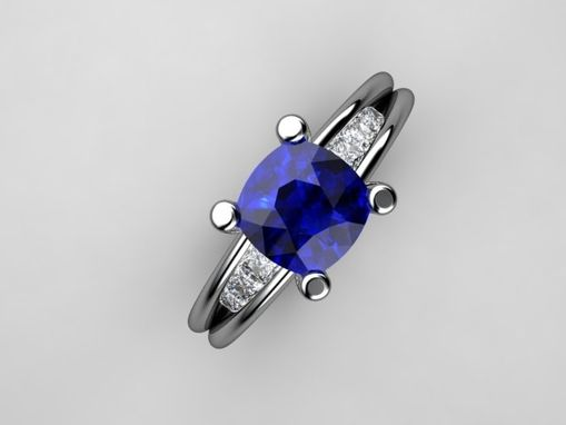 Custom Made Very Elegant Sapphire Diamond Ring