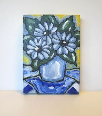 Custom Made Daisies Still Life Painting Original Acrylic On Canvas