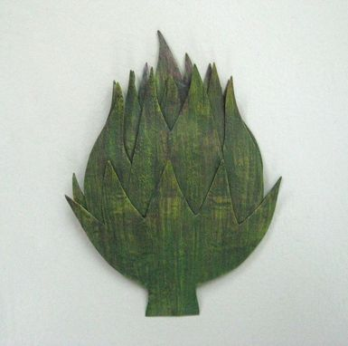 Custom Made Handmade Upcycled Metal Artichoke Wall Art Sculpture