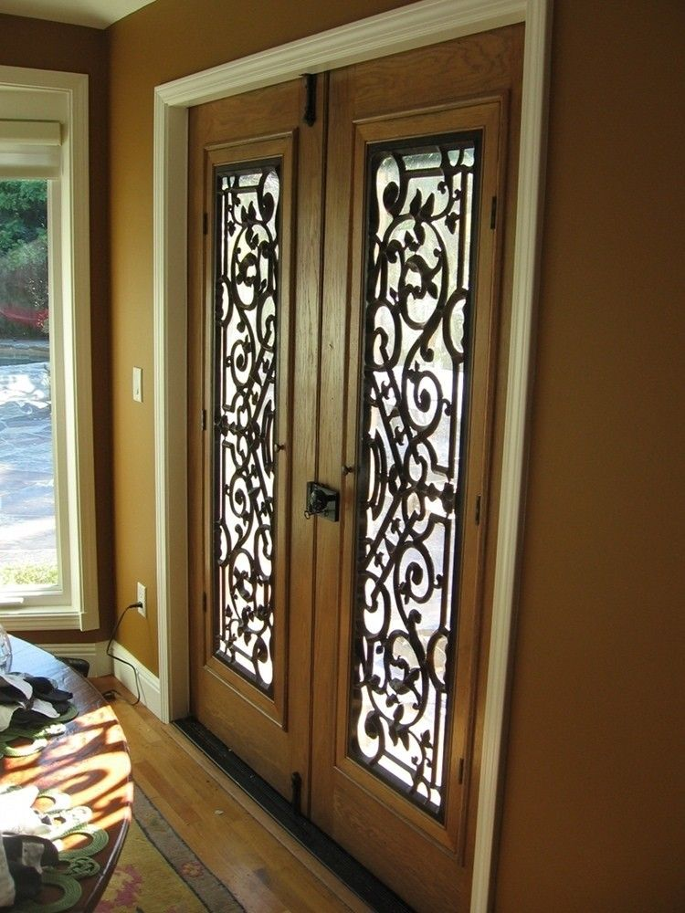 Hand crafted custom wooden imitation iron door design by for Door design of iron