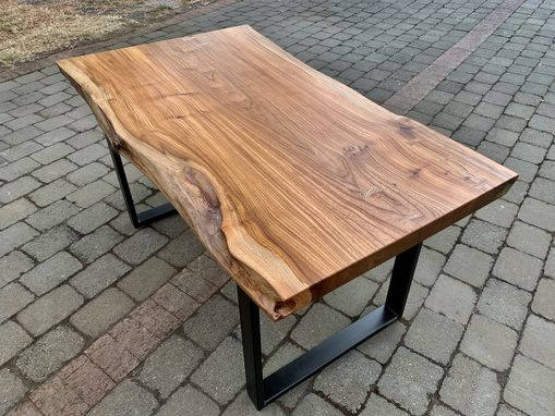 Custom Made Live Edge American Elm Desk