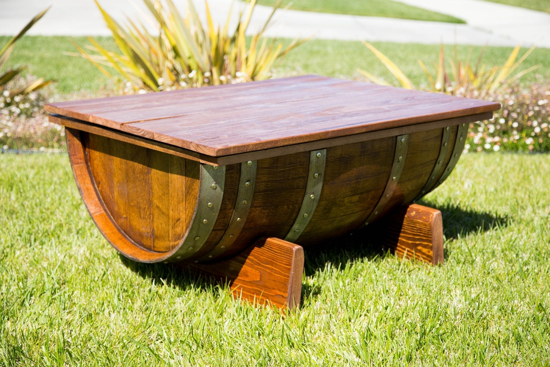 Custom Wine Barrel Coffee Table by By Gordon Living