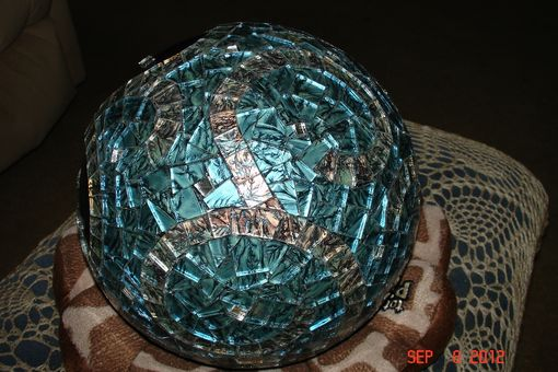 Custom Made Van Gogh Stained Glass Mosaic Gazing Ball Made With Recycled Bowling Balls