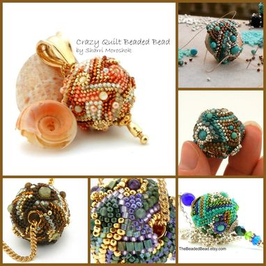 Custom Made Freeform Art Bead Necklace Earrings Stick Pin