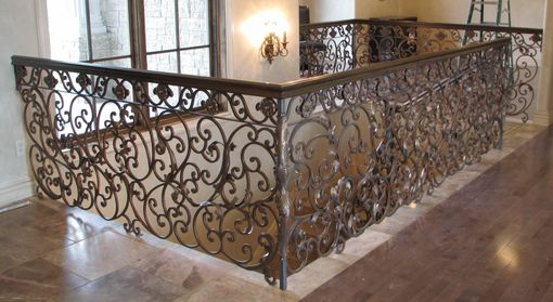 Custom Made Scroll Railing