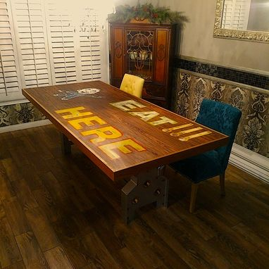 Custom Made One Of A Kind Dinning Room Table