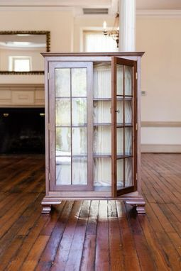 Custom Made Queen Anne Walnut Bookcase