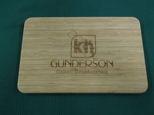 Custom Made Engraved Bamboo Cutting Board | Personalized Logo, Custom Design