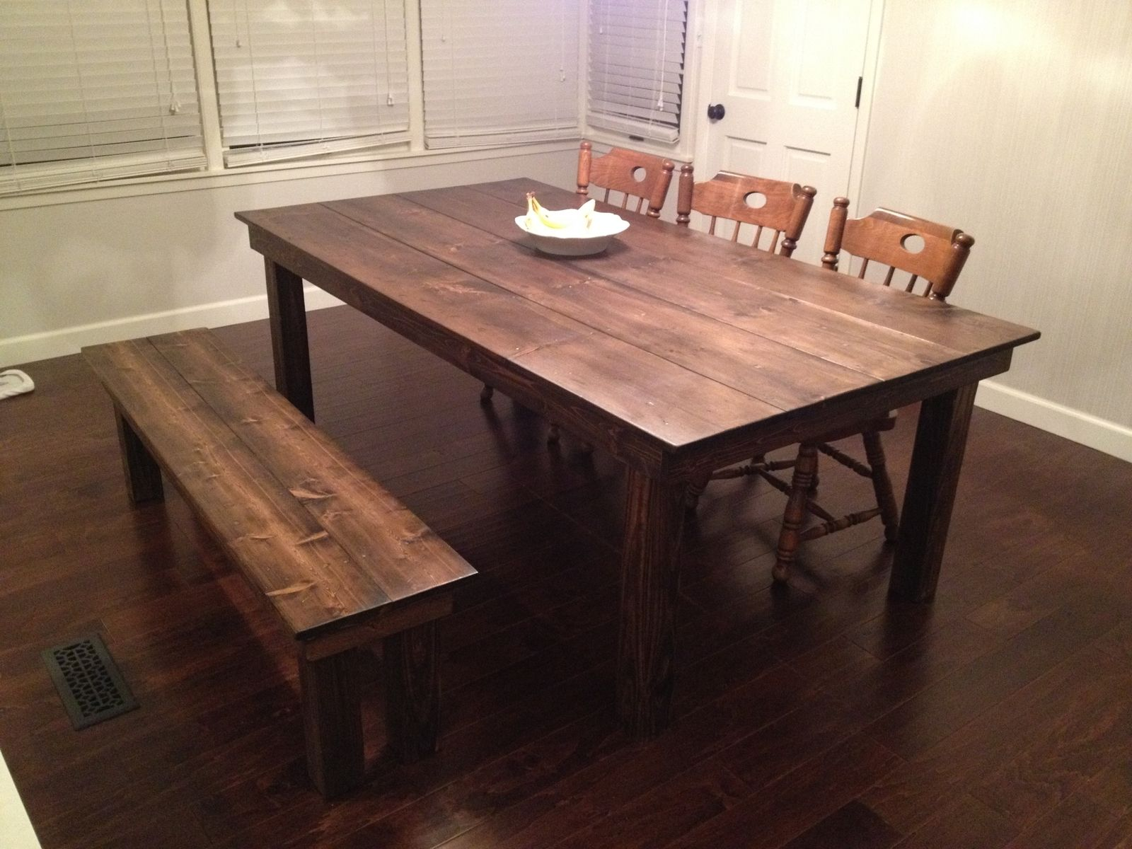 Custom farmhouse dining table by gypsum valley made for Dining room farm table