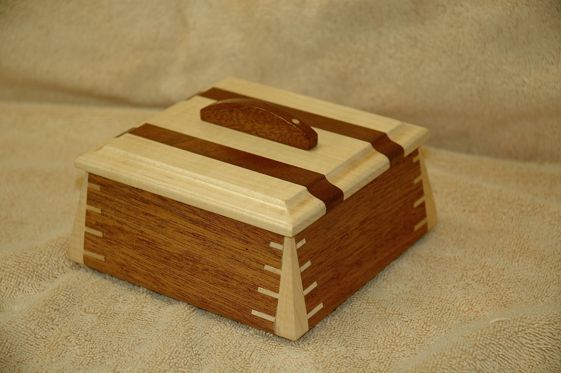 Custom Made Small Mahogany Wooden Box 1