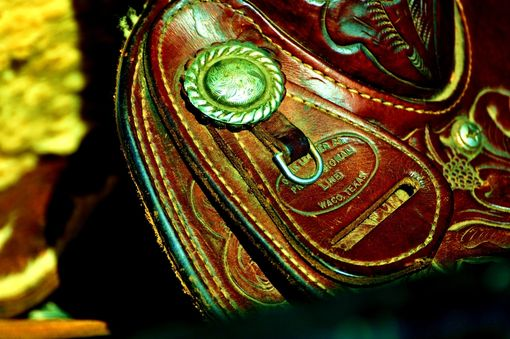 Custom Made Fine Art Photograph Of A Texan Saddle