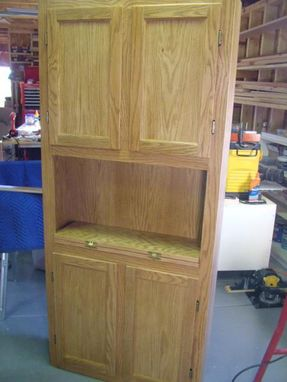 Custom Made Rv Storage Cabinet With Writing Table.