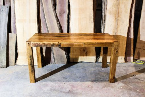 Custom Made Reclaimed White Oak Parsons Style Desk