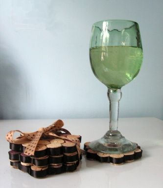 Custom Made Upcycled Coasters - Set Of Four Made From Recycled Wine Corks