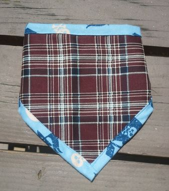 Custom Made Little Pirate Bibdana, Reversible Bandana Bib For Baby