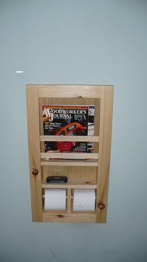 Custom Made Toilet Area Organizer With Hidden Compartment