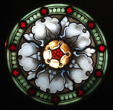 Custom Made Rosette Stained Glass Panel