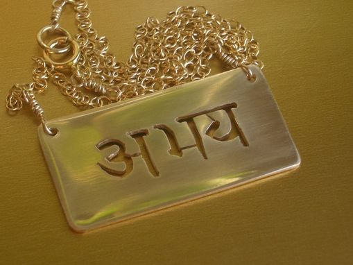 "Custom Made Abhaya Necklace ""Fearlessness''"