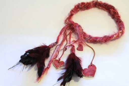 Custom Made Head Band, Hair Wrap, Boho, Gypsy, Feathers