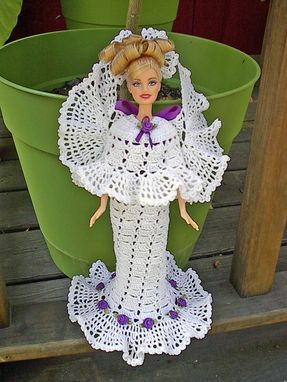 Custom Made Barbie Angel In White And Purple
