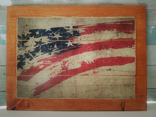 Custom Made Rustic Flag (P09g4l)