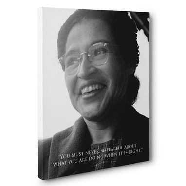 Custom Made Fearful Rosa Parks Motivation Quote Canvas Wall Art