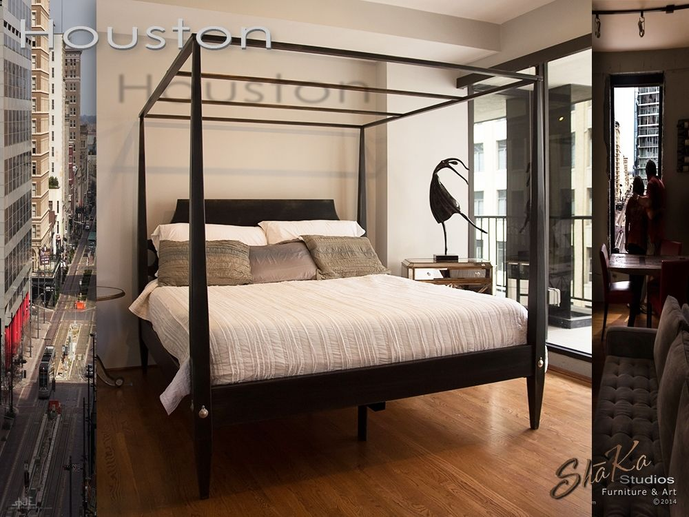 Custom Houston Four Post Canopy Bed By Sh 227 Ka Studios