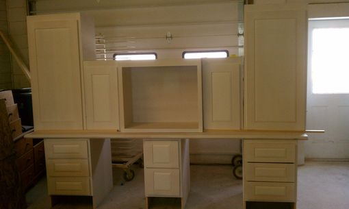 Custom Made Double Desk Built In