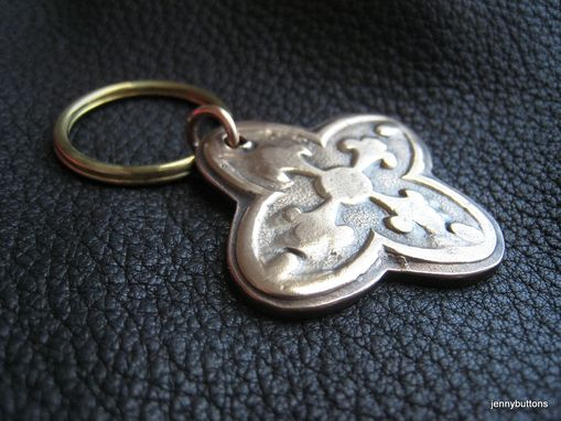 Custom Made French Flea Market Bronze Key Chain 8th Anniversary