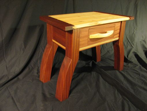 Custom Made Sapele Maple Table